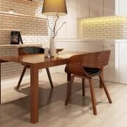 vidaXL Set di 2 Sedie in legno marrone