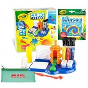 Crayola Cling creator the most fun toy for creating gel window clings. Kids create customized cling to use in school or at home, with additional 8 window markers and bonus pencil case