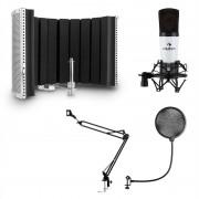 Auna MIC-920, USB, микрофонен комплект, V5, микрофон, въртящо се рамо, POP филтър, бленда (34264+30214+28565)