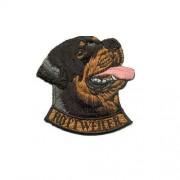 Brodyrmärke Rottweiler head with text