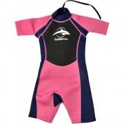 Konfidence Costum inot din neopren pentru copii Shorty Wetsuit pink 7 8 ani