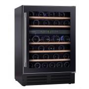 Vitrina de vinuri incorporabila Hoover HWCB 60, 145 l, Clasa C, 46 sticle, 81.3 cm, Usa neagra 34900425