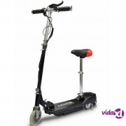 vidaXL Električni Skuter sa Sjedalom 120 W Crni