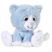 Geen Pluche blauwe katten knuffel 14 cm