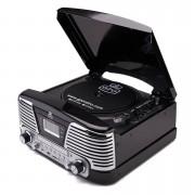 GPO Tocadiscos GPO Retro Memphis Sistema de música 4 en 1 con CD y radio FM - Negro