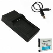 ismartdigi bateria 680mAh 11L + cargador USB para Canon - blanco + negro