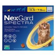 Nexgard Spectra Tab Small Dog 7.7-16.5 Lbs Yellow 6 Pack