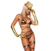Costum de Baie GOGO Set Bikini Gold Auriu