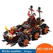 Generic 10518 Nexus Knights Siege Machine Model Building Kits Compatible with 70321 14018 City 3D Blocks Educational Children Toys