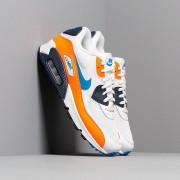 Nike Air Max 90 Essential White/ Photo Blue-Total Orange