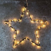 Sirius Decorative LED star Liva Star, black, 70