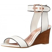 Ted Baker Women s Lernox Wedge Sandal White 6 B(M) US