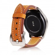 Matte Skin Leather Smart Watch Strap Replacement for Huawei Watch GT 2e/GT2 46mm - Brown