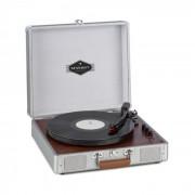 Auna Billy Bob, gramofon s BT, stereo reproduktor, bluetooth, stříbrný