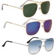 Phenomenal Retro Square Sunglasses(Green, Blue)