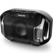 Безжична портативна колонка Philips Bluetooth SB300B, Динамични светлини, Черна, SB300B