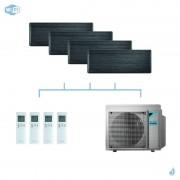 DAIKIN climatisation quadri split mural gaz R32 Stylish Blackwood 7,4kW WiFi FTXA20AT+FTXA20AT+FTXA25AT+FTXA42AT+4MXM80N A++