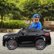HOMCOM® Kinderfahrzeug Elektroauto Mercedes-Benz Fernbedienung MP3 3–8 Jahre PP Schwarz 115 x 70 x 55 cm