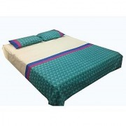 Imaginations By Kuntal'S Sea Green Bedsheet Set