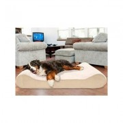 FurHaven Ultra Plush Luxe Lounger Cooling Gel Dog Bed w/Removable Cover, Cream, Giant