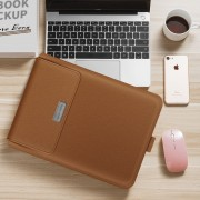 Universal Laptop Bag Laptop Sleeve Protective Bag with Stand Function for 11.6''- 12'' Laptops Tablets - Brown