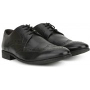 Clarks Chart Limit Black Leather lace up For Men(Black)
