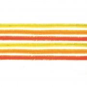 Geen 10x hobby chenille draad mix geel/oranje 50 cm Multi