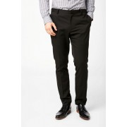 Mens Next Stretch Twill Suit: Trousers - Slim Fit - Black