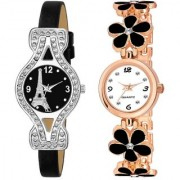 Latest New Arrival Black Combo (Partyware Wedding) Looking Stylist Designing Analog Watch For Women And Girls