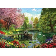 White Mountain Puzzles Forest Lake Jigsaw Puzzle (1000 Piece)