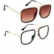 THE HOPE FASHION Rectangular Sunglasses(Multicolor)