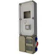 Háromfázisú fogyasztásmérőhöz 2db alsó 150x300x170mm kábelfogadó és elmenő PVT 3060 FO 2x6 ÁK - Fi