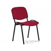"""Felicia"" stolica za sastanke, bordo tapeta, crni metalni"