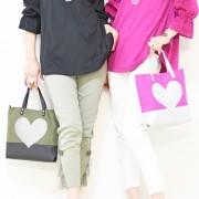 &LOVE BigハートパッチのLOVEバッグ【QVC】40代・50代レディースファッション