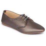 Fashtyle Women Grey Lace Up Casual Shoe