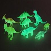 AKSHATA Toys Hobbies 8 pcs/set Night Light Noctilucent Dinosaur Figure Gift Toy for Children Kids