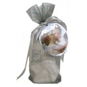 Set cadou, Organza Argintiu (gel de dus 65 ml, lotiune de corp 65 ml, bila efervescenta de baie decorativa a 50 g)