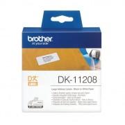 Brother adreslabel groot 38x90mm wit