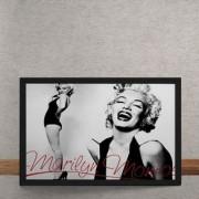 Quadro Decorativo Marilyn Monroe Autografo 25x35