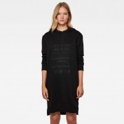 G-star RAW Femmes Robe Graphic Text BF Hooded Sweat Noir