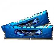 Memorie G.Skill Ripjaws 4 Blue 8GB (2x4GB) DDR4 3000MHz CL15 1.35V Intel X99 Ready XMP 2.0 Dual Channel Kit, F4-3000C15D-8GRBB