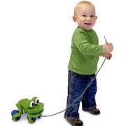 Дървена играчка за дърпане - Жабка - 13021 - Melissa and Doug, 000772130219