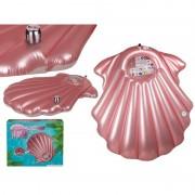 Geen Opblaasbaar luchtbed roze schelp 163 x 151 cm