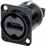 Adaptor HDMI mama, 19 pini, IP65, negru, Neutrik NAHDMI-W-B