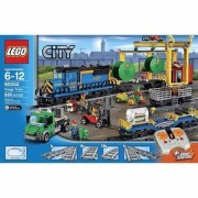 Lego City Trains Cargo Train Includes 4 Minifigures: Forklift Driver, Train Driver, Farmer And A Truck Driver