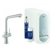 Grohe Blue Home Starter Kit 31454 Bluetooth/WIFI L-Ausl. supersteel, 31454DC1 31454DC1