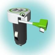 """Autós USB töltő """"Triple USB Car Charger USB Type C Connector"""""""