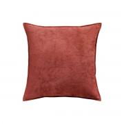 Miliboo Coussin en velours rouge tomette 45 x 45 cm ALOU