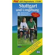 Fietskaart ADFC Regionalkarte Stuttgart und Umgebung | BVA