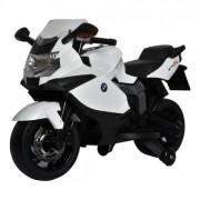 Motocicleta electrica BMW K130S cu sunete si lumini pentru copii alba